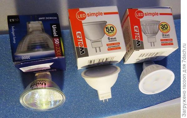 Лампы для теста