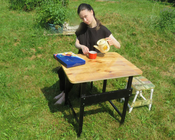 Тестируем самодельный стол в стиле лофт