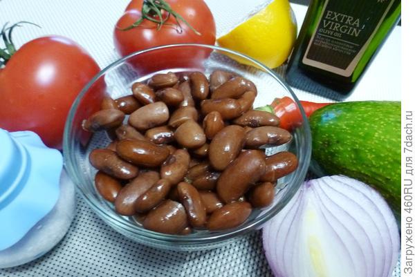 Салат с помидорами, фасолью и авокадо; Техасский. Пошаговый рецепт с фото