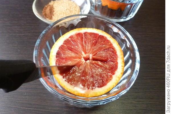 Десерт; Запечённый апельсин; пошаговый рецепт приготовления с фото