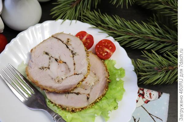Поркетта — рулет из свинины, запеченный в духовке со специями. Рецепт приготовления с пошаговыми фотографиями