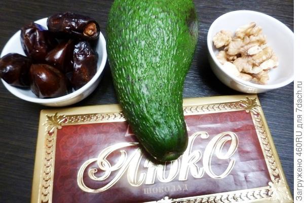 Трюфели - шоколадные конфеты с авокадо и финиками. Пошаговый рецепт приготовления с фото