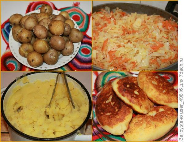 Пирожки картофельные с начинкой из капусты