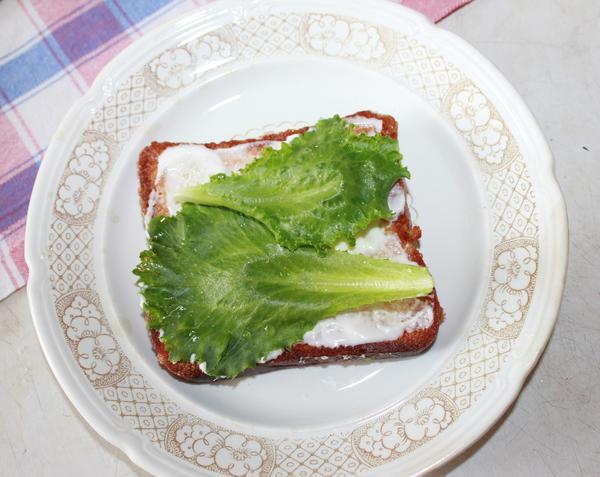 Бутерброд; Божья коровка; пошаговый рецепт приготовления с фото
