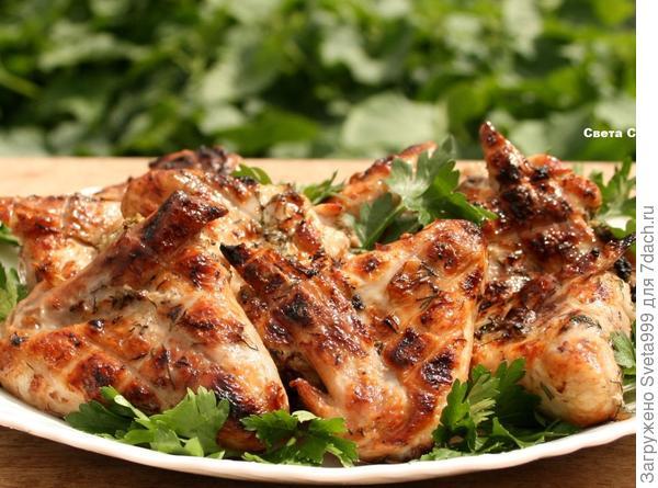 Куриные крылышки на мангале - пошаговый рецепт приготовления с фото
