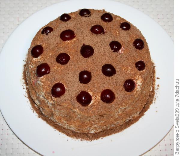 Торт с вишней; Палочка-выручалочка; в микроволновке - пошаговый рецепт приготовления с фото