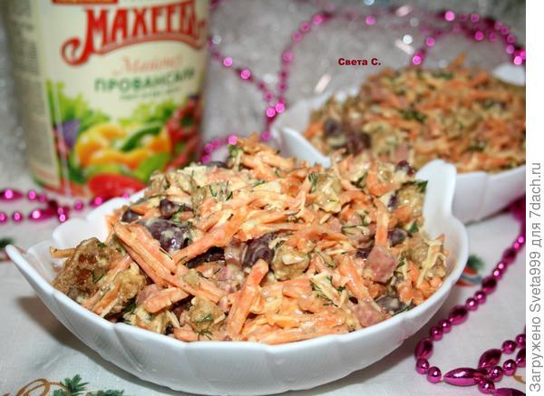 Салат; Объедение; пошаговый рецепт приготовления с фото
