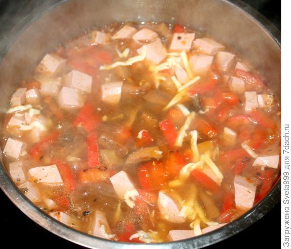 Суп; Пицца; пошаговый рецепт приготовления с фото