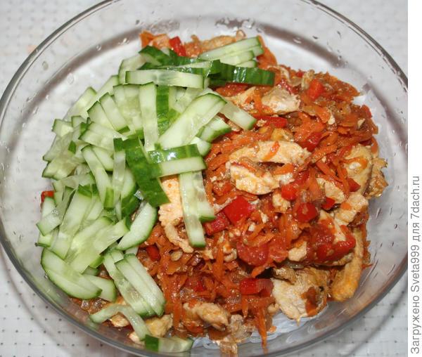 Фунчоза с курицей и овощами - пошаговый рецепт приготовления с фото