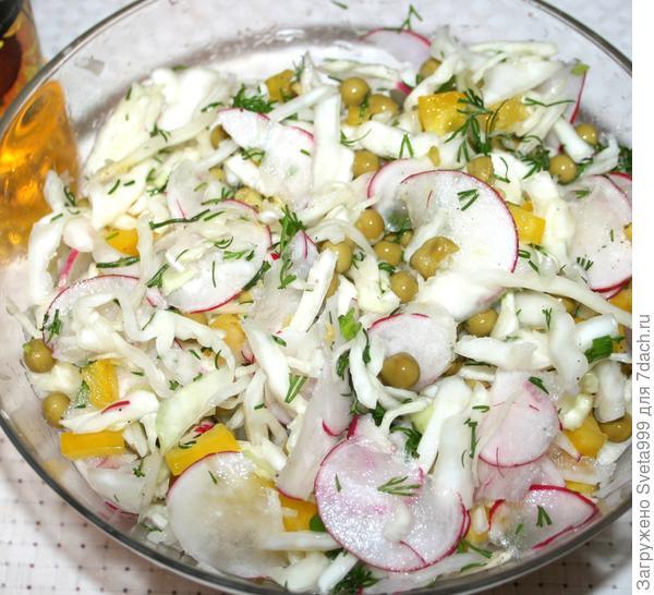 Постный салат из белокочанной капусты - пошаговый рецепт приготовления с фото