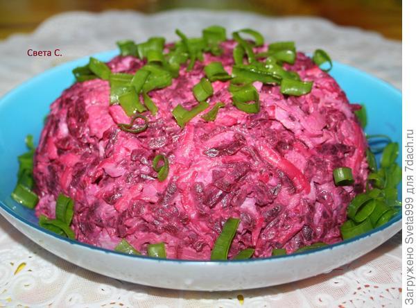 Салат; Розовый фламинго; пошаговый рецепт приготовления с фото