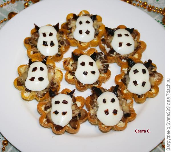 Тарталетки с грибами; Бычки. Пошаговый рецепт приготовления с фото