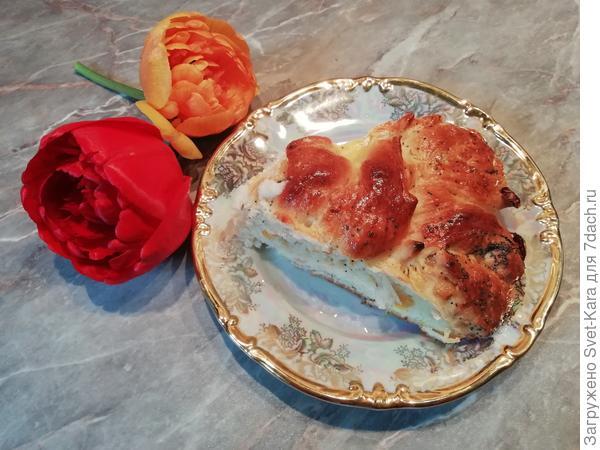 Каравай-цветок - пошаговый рецепт приготовления с фото