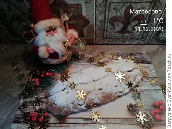 Рождественский творожный штоллен. Пошаговый рецепт с фото
