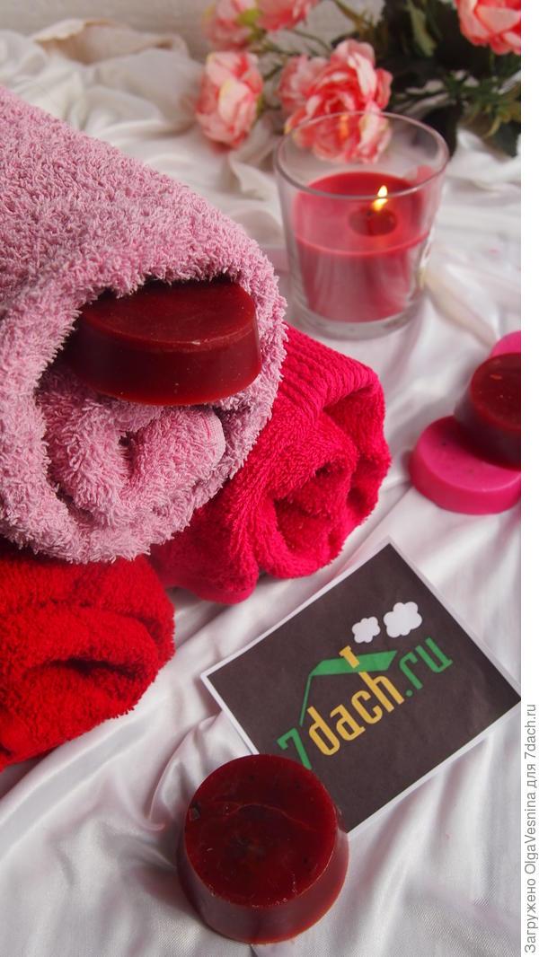 Ароматизатор для полотенец и белья из остатков ароматической свечи.