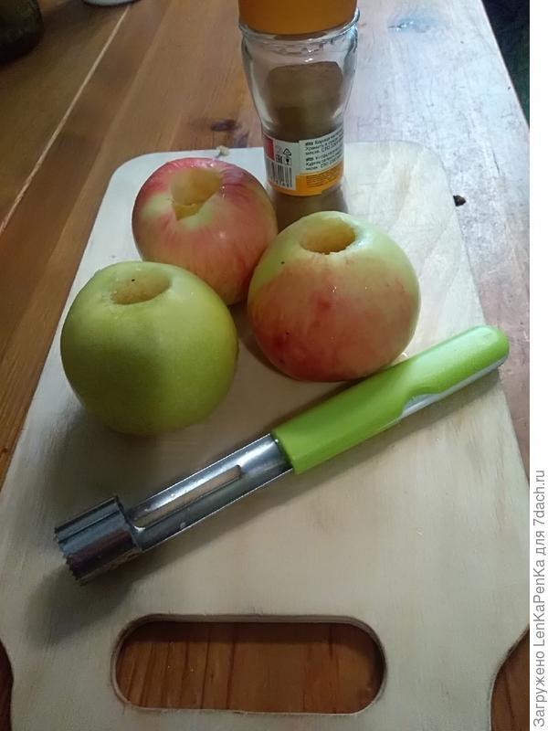 Запеченные яблоки с корицей в микроволновке - пошаговый рецепт приготовления с фото