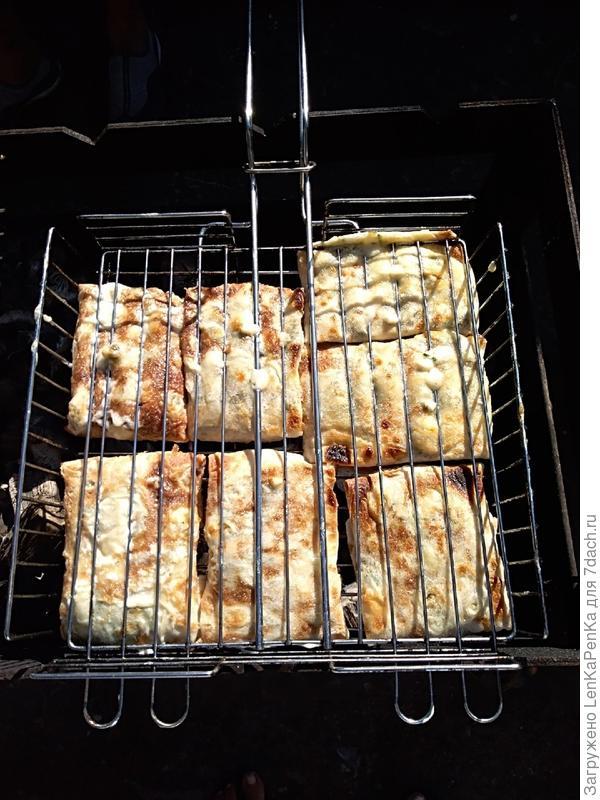 Ленивые кутабы на мангале - пошаговый рецепт приготовления с фото