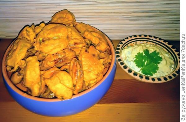 Пакора - нежные овощи в хрустящем кляре. Рецепт фото