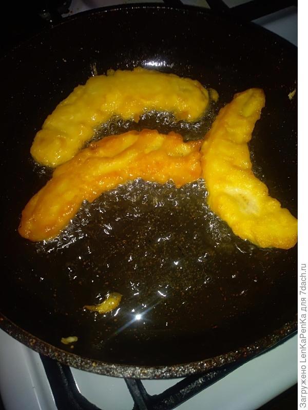 Жареные бананы - пошаговый рецепт приготовления с фото