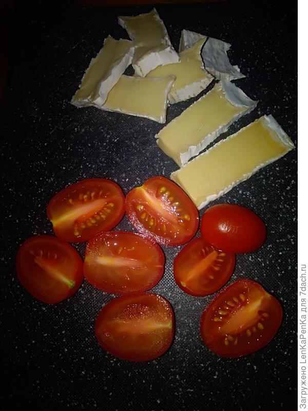 Омлет из сыра бри с запеченными помидорами черри - пошаговый рецепт приготовления с фото
