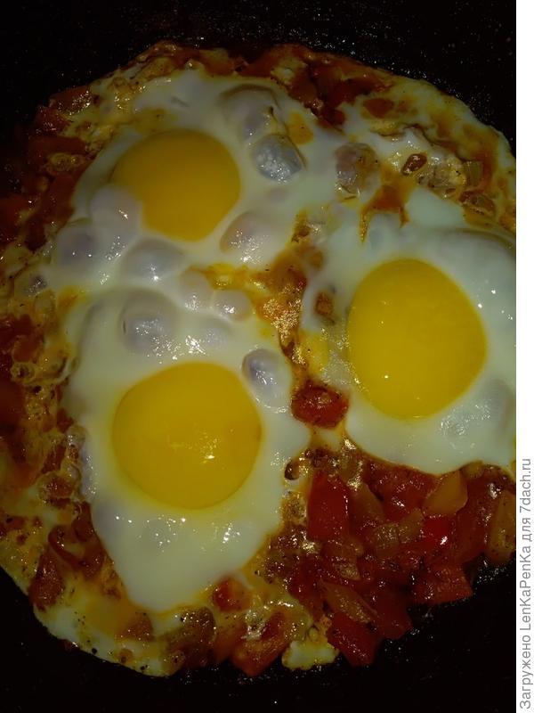 Шакшука (яичница с овощами). Пошаговый рецепт с фото