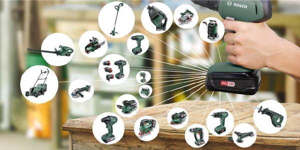 Один аккумулятор - для всех инструментов! Фото компании Bosch