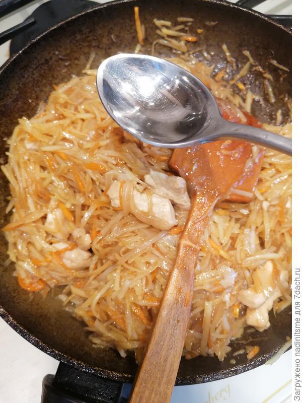 Китайский салат из картофеля и куриного филе. Пошаговый рецепт с фото