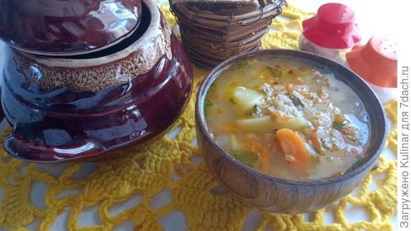 Постный злаковый суп - пошаговый рецепт приготовления с фото