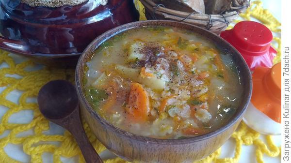 Суп злаковый