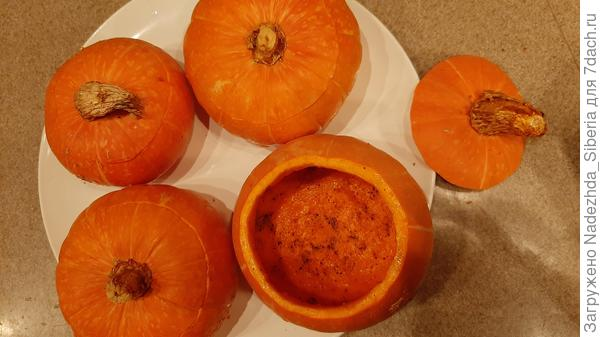 Фаршированные тыквы, запеченные в духовке. Пошаговый рецепт с фото и видео