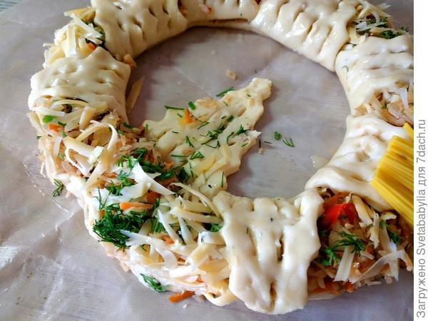 Пирог с капустой. Рецепт приготовления с пошаговыми фотографиями