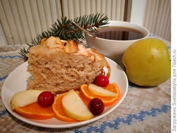 Яблочный пирог из овсяного теста. Рецепт приготовления с пошаговыми фотографиями