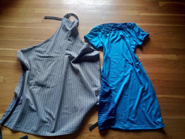 Фартук и платье.
