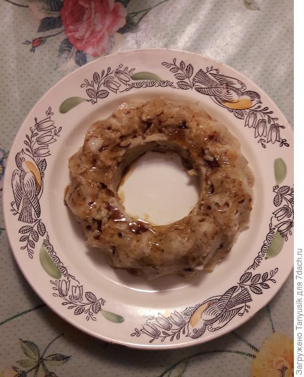 Яблочное пирожное в микроволновке. Рецепт приготовления с пошаговыми фотографиями