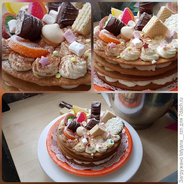 Домашний торт на медовых коржах. Рецепт с фото