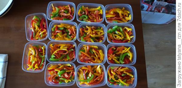 Замороженные овощи на зиму. Фотографии