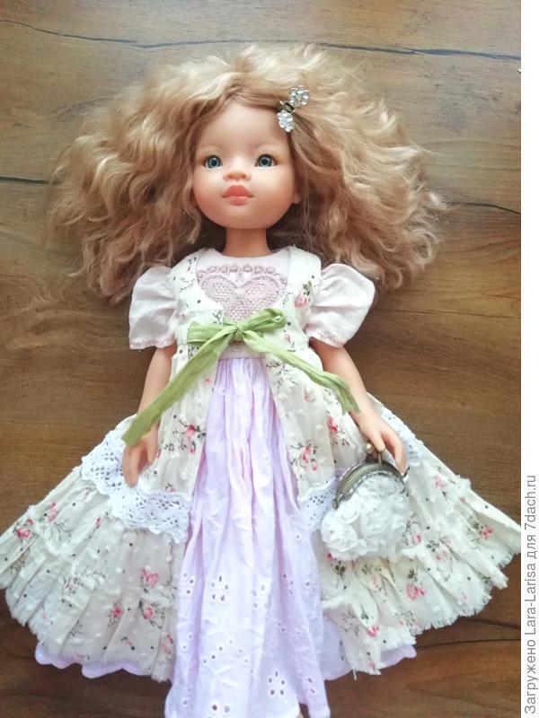 кукла Паола Рейна (кто не знаком с ней скажу, что это испанская кукла ростом 32 см, очень вкусно пахнет ванилью) Аутфит для девочки.