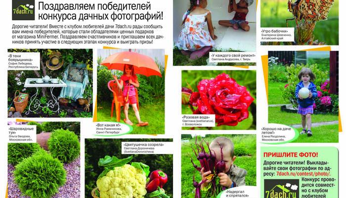 """Фотографии победителей II летнего этапа фотоконкурса - в журнале """"Дом в саду""""!"""