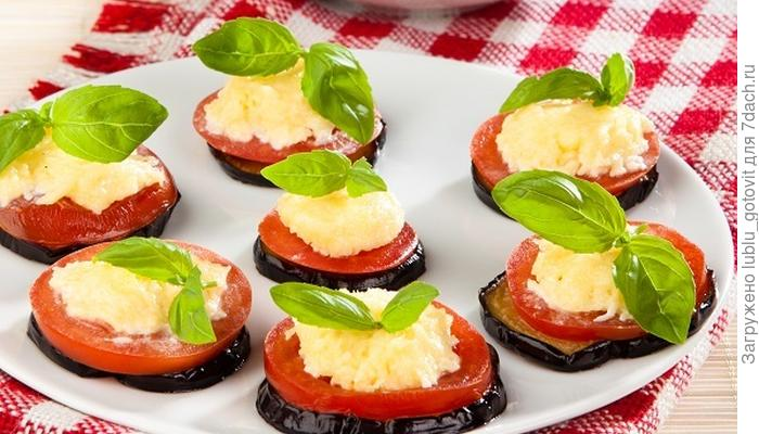 Баклажан с помидором - чудо-закуска на скорую руку