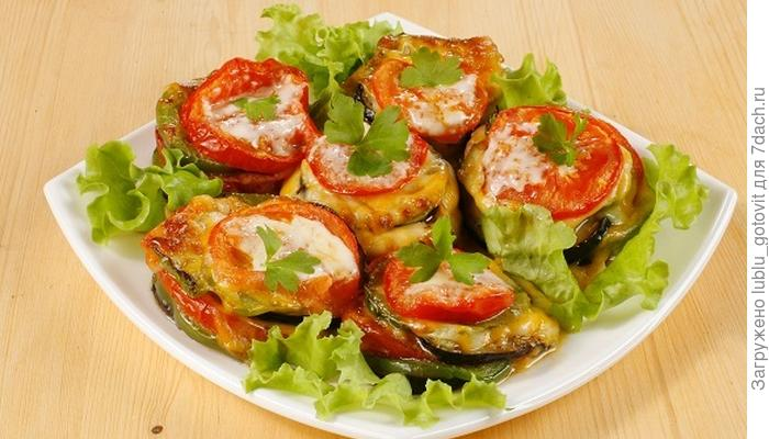 Овощные башенки с сыром: коронное блюдо всего из пяти ингредиентов