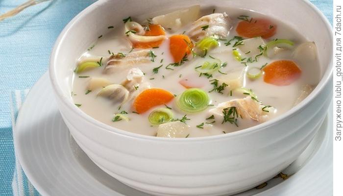 Финский рыбный суп, или Что приготовить с луком-пореем