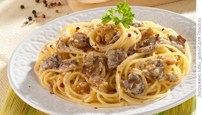 Спагетти с ореховым соусом - классическая паста в оригинальном исполнении
