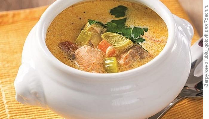 Рыбный суп со сливками. Вдвойне нежный вкус