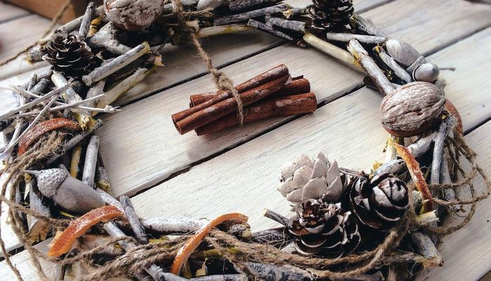 Новогодний декор из природных материалов всего за час