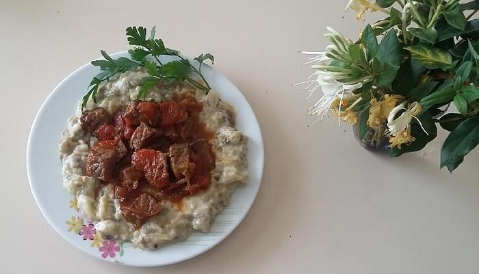 Готовим  «Хункар байилды» -  Мясо и салат из баклажанов