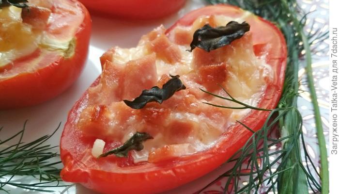 Фаршированные запечённые помидоры на ужин