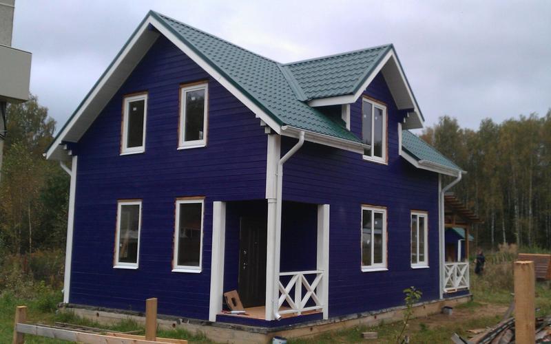 Дом 7х9 м. Профилированный брус 145х145. Возведен в марте 2016 года. Вид с фасада