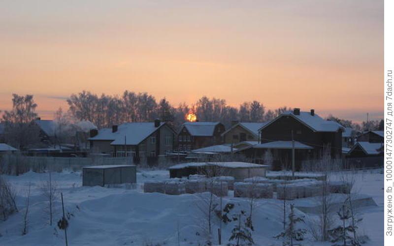 Морозный рассвет в нашем поселке! День обещает быть морозным и солнечным!!!