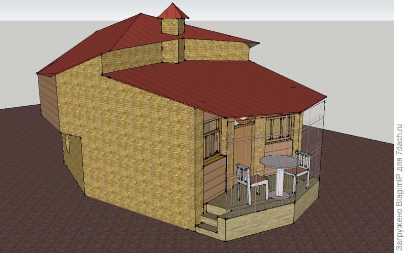 Форма периметра как бы округлена, чтобы можно было легче обойти дом