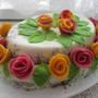"""Торт """"Розы на снегу"""""""